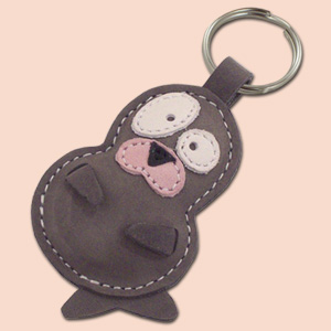 Snowy The Cute Little Seal Pup Leather Animal Keychain FREE Shipping